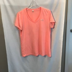 Under Armour Ladies size L salmon colored Tee